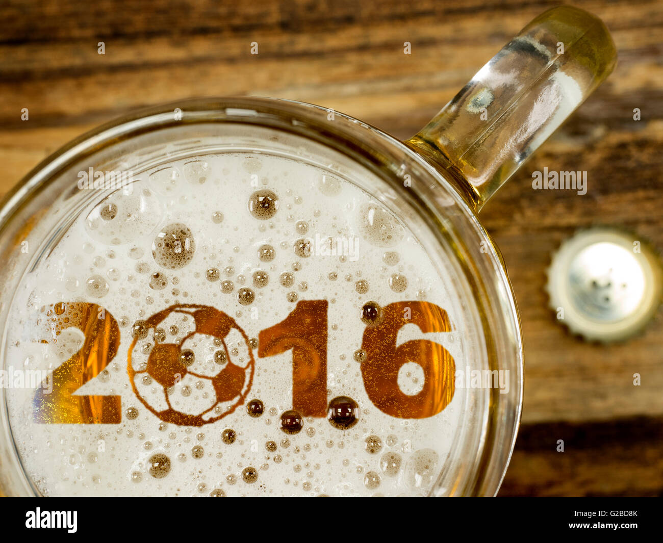 EM Beer - Stock Image