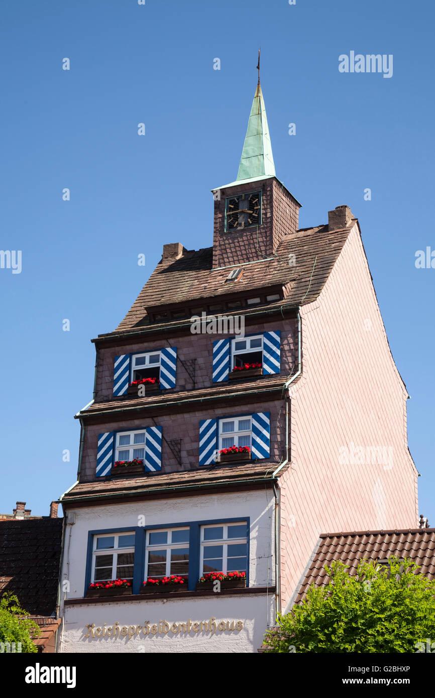 Reich President's house, Holzminden, Weser Uplands, Lower Saxony, Germany - Stock Image