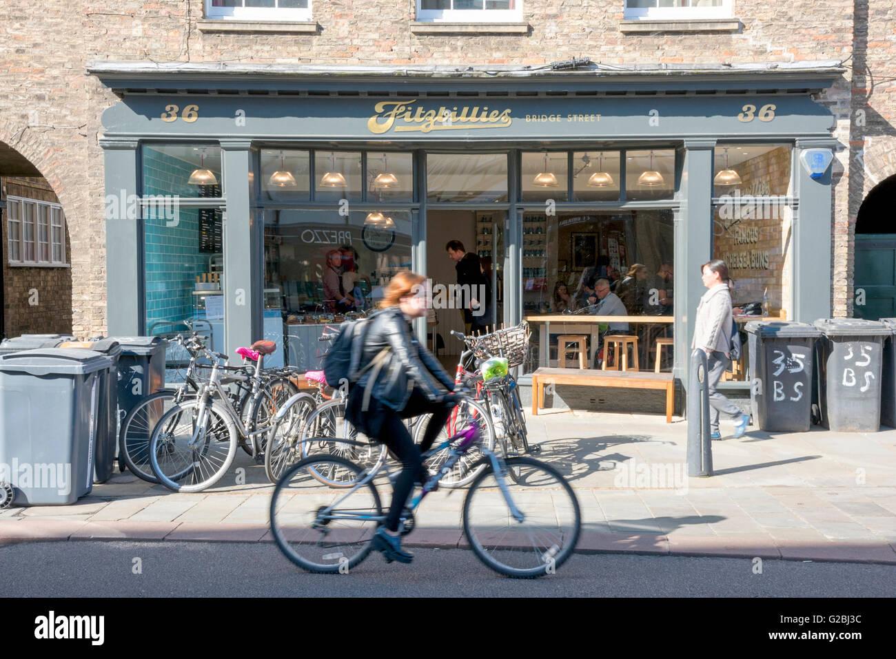 The new Fitzbillies cafe and restaurant in Bridge Street Cambridge UK Stock Photo