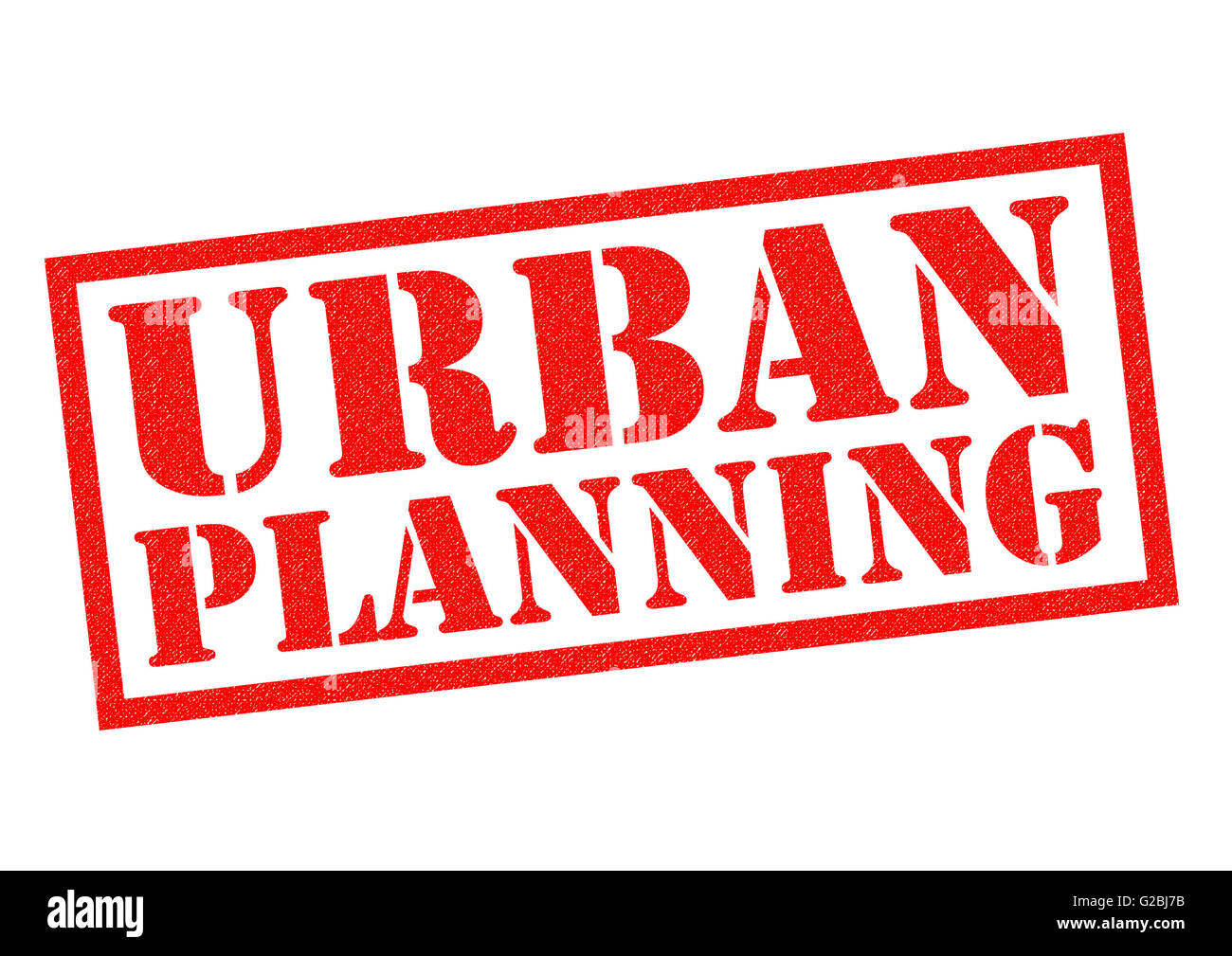 URBAN PLANNING red Rubber Stamp over a white background. - Stock Image