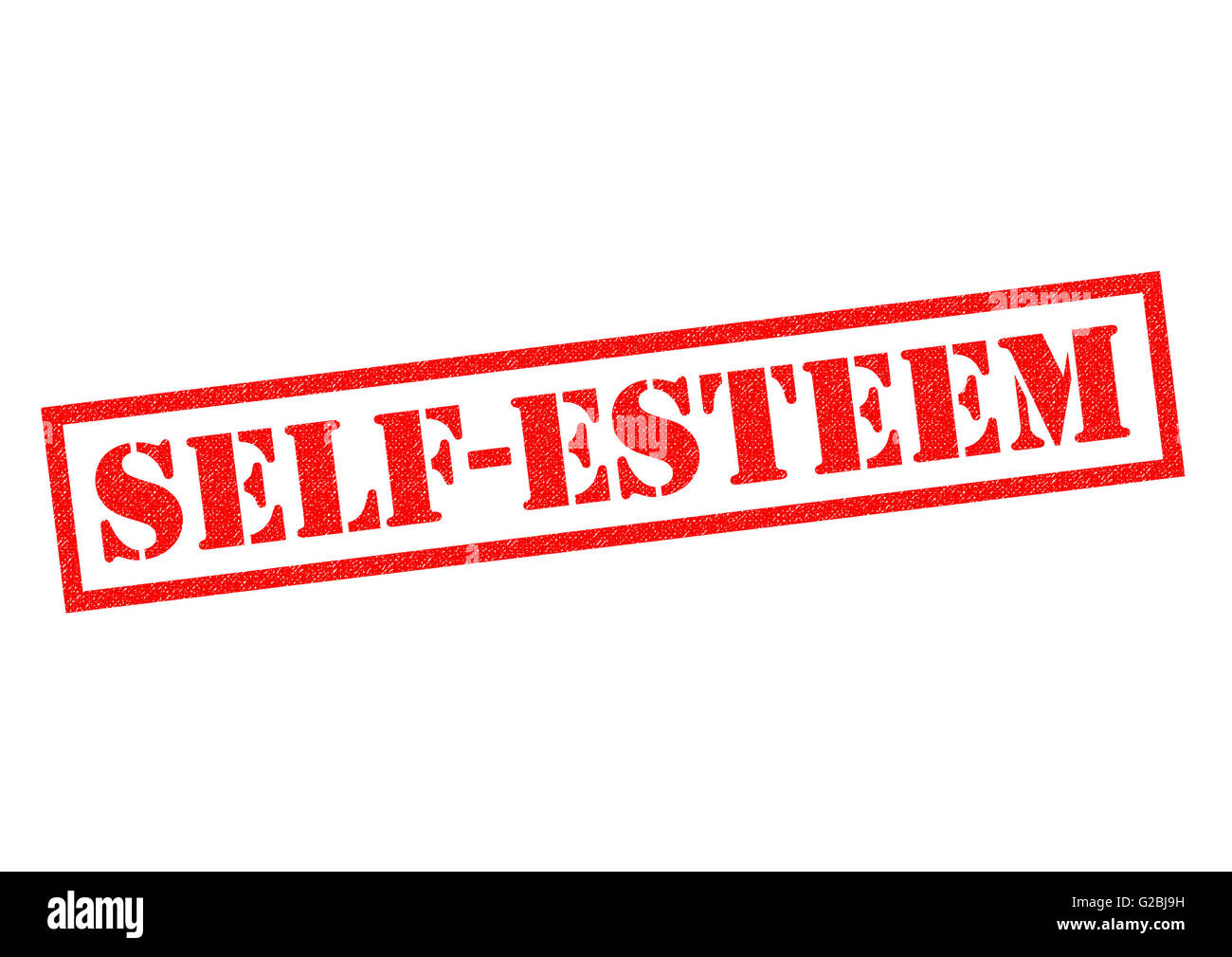 SELF ESTEEM red Rubber Stamp over a white background. - Stock Image