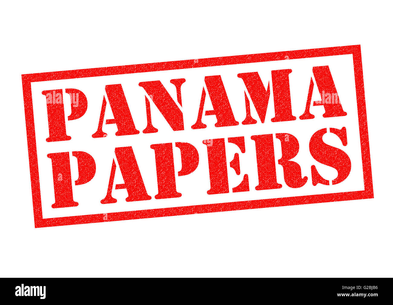 panama papers red rubber stamp over a white background stock photo