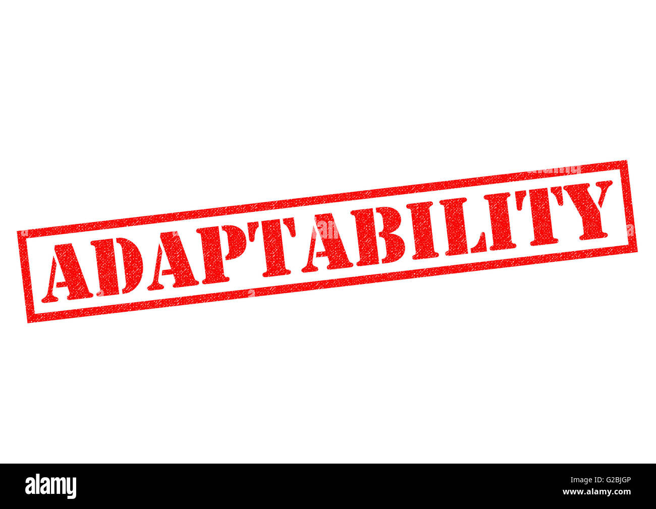 ADAPTABILITY red Rubber Stamp over a white background. - Stock Image