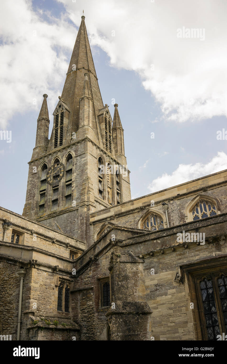 The Church of England parish church of St Mary the Virgin in Witney in Oxfordshire - Stock Image