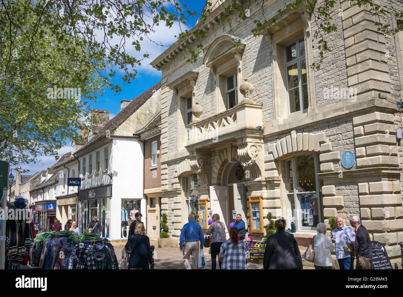 Witney town centre, Witney, Oxfordshire - Stock Image