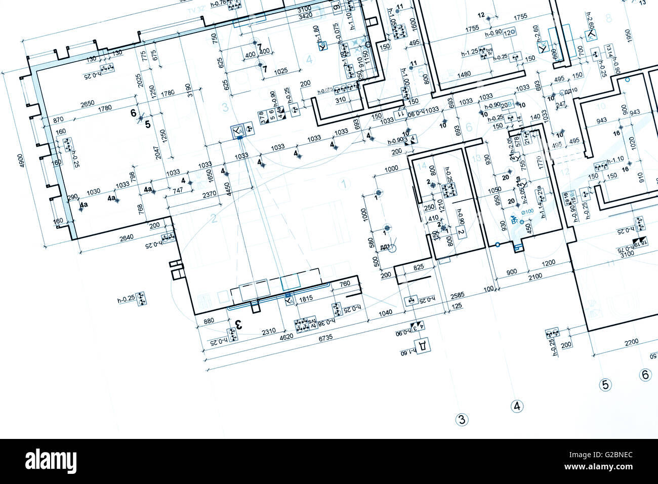 Blueprint Floor Plans Architectural Drawings Construction Stock