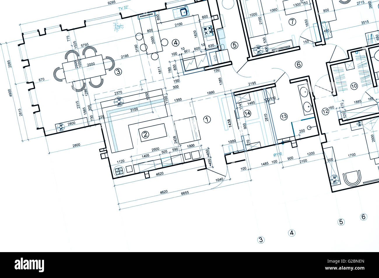 Blueprint floor plans architectural drawings construction stock blueprint floor plans architectural drawings construction background malvernweather Images