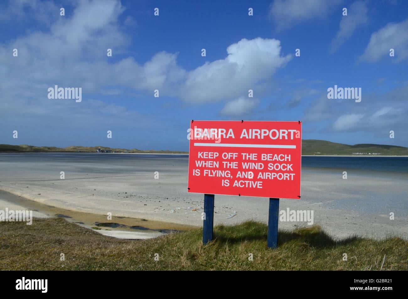 Barra Airport, Outer Hebrides, Scotland - Stock Image