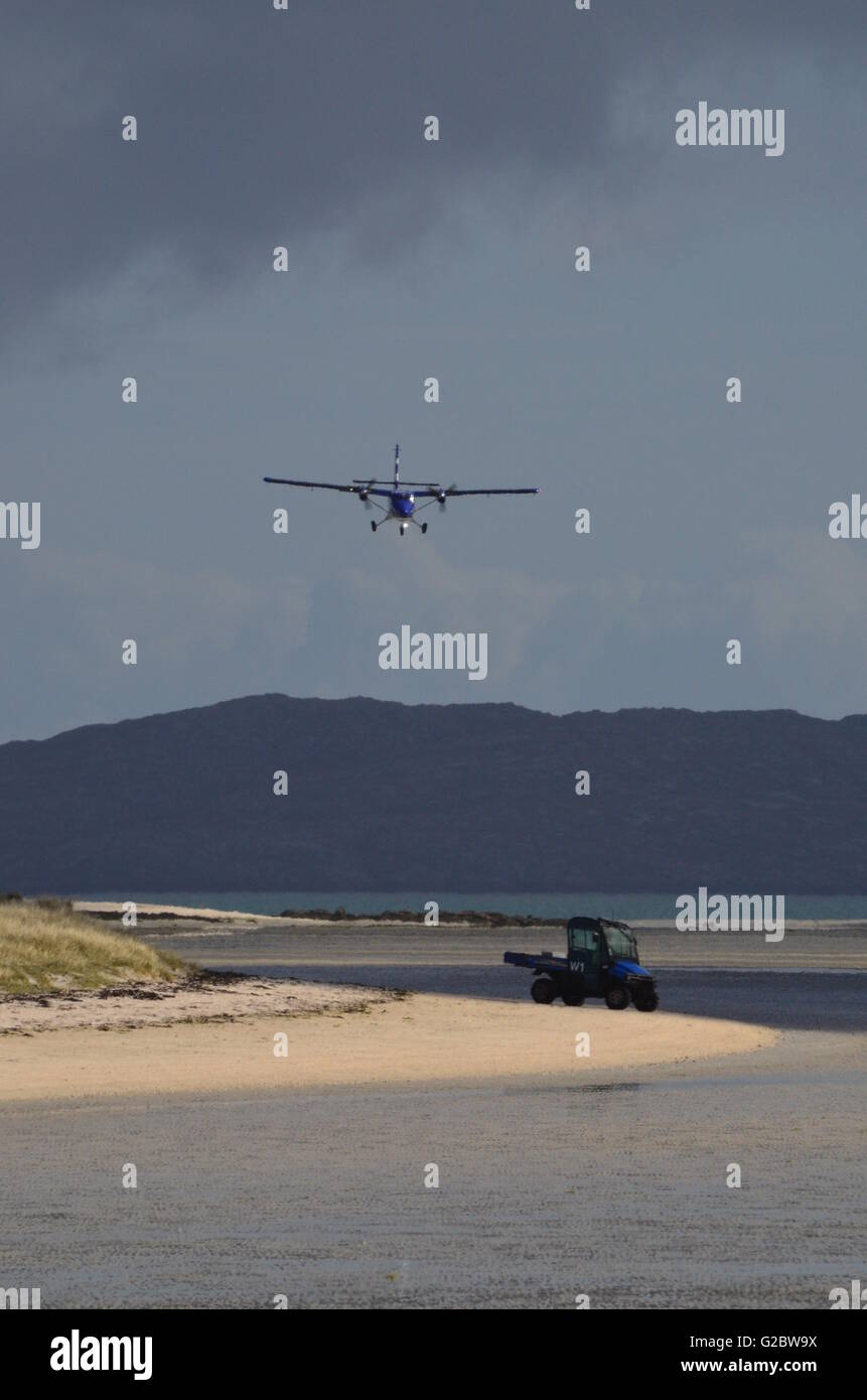 Barra Airport Outer Hebrides Scotland - Stock Image