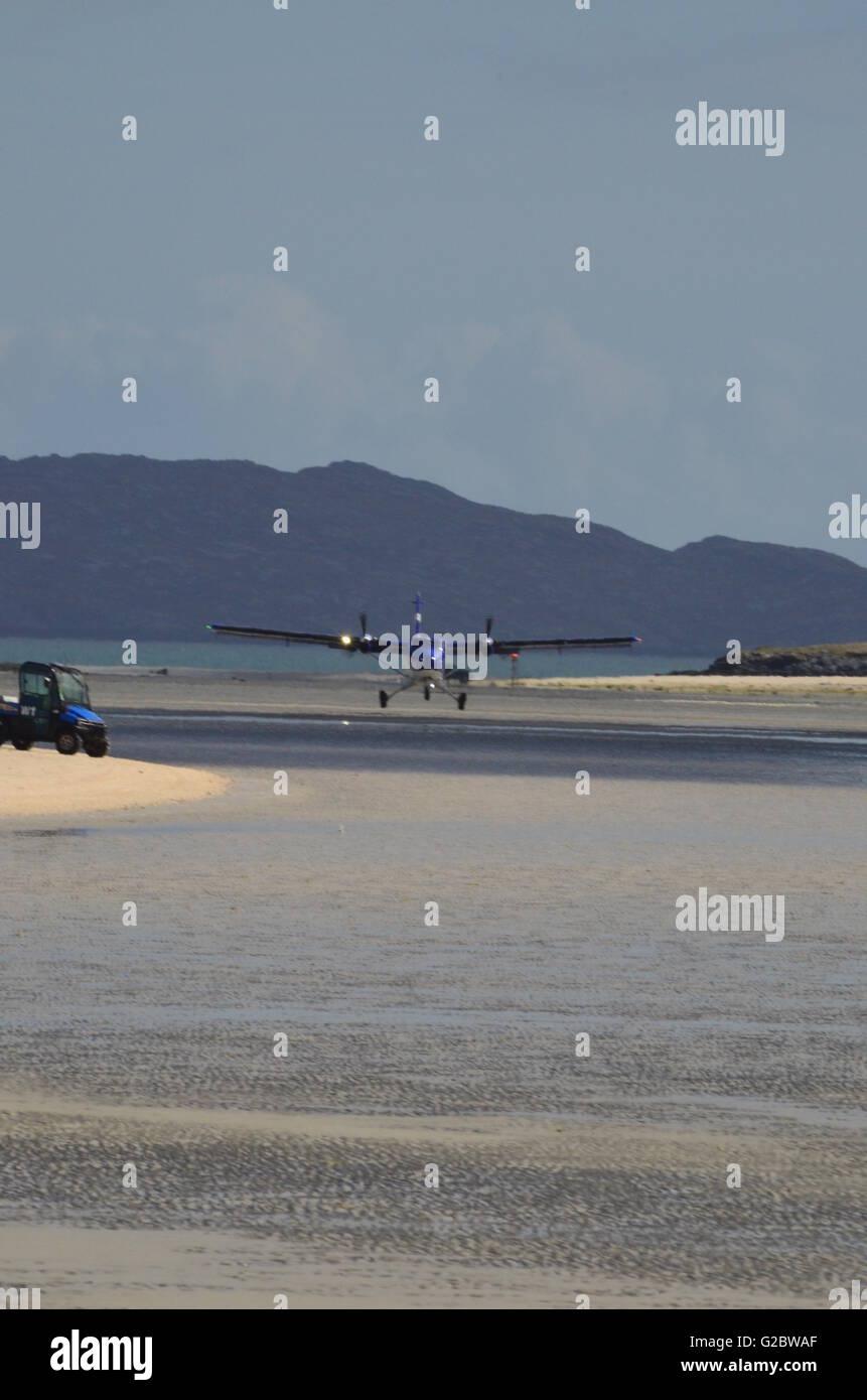 Barra Airport Outer Hebrides Scotland - Stock Image