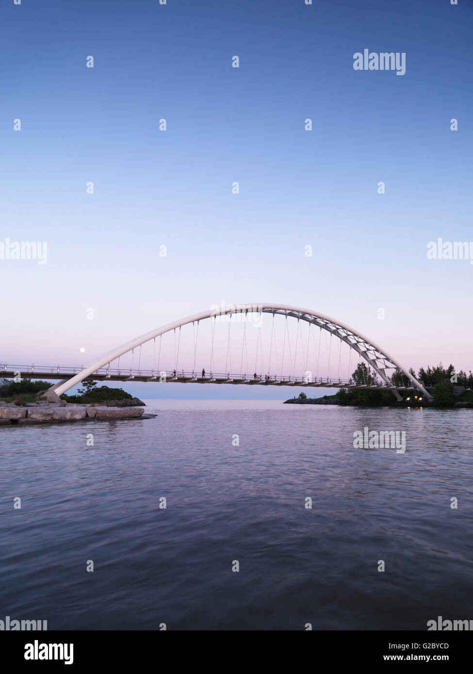 Humber River Arch Bridge, Toronto, Ontario Province, Canada - Stock Image