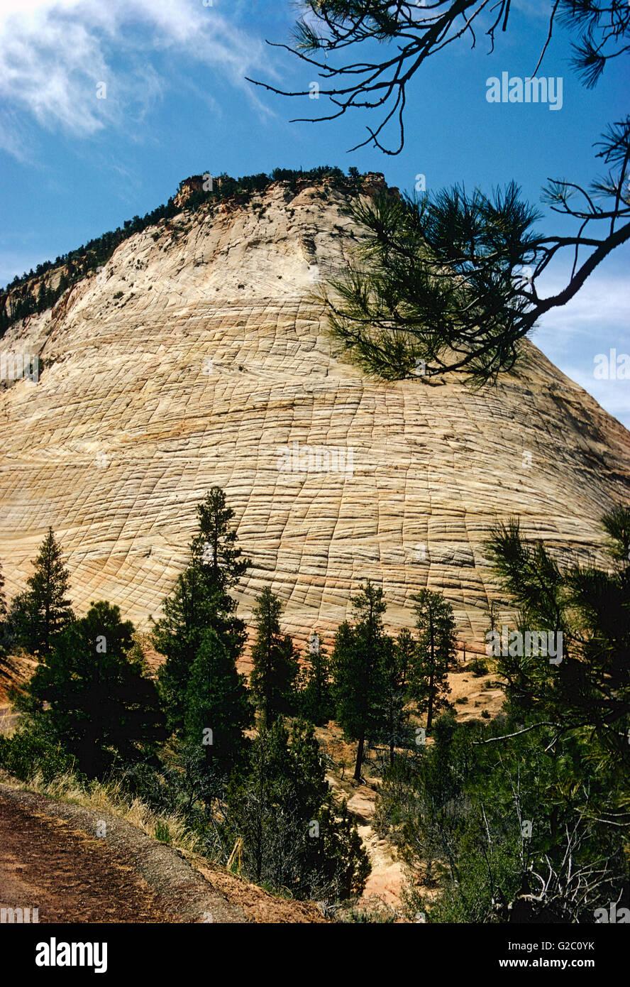 Beehive Rock; Zion National Park; southern Utah; USA - Stock Image