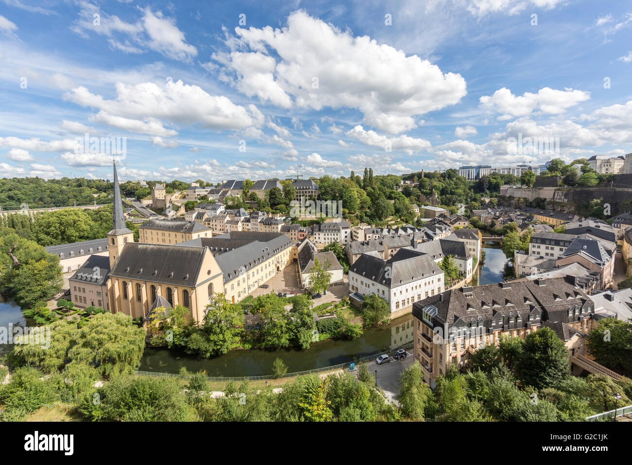 View over capital city, Luxembourg - Stock Image