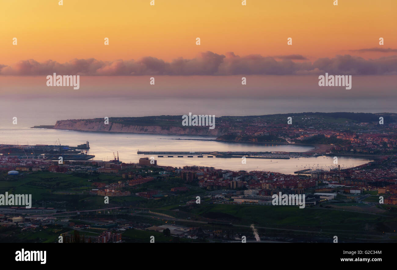 view of El Abra at the twilight - Stock Image