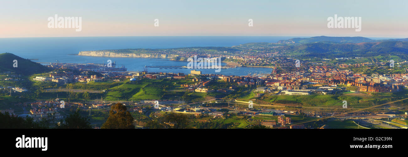Panoramic view of El Abra in Basque Country - Stock Image