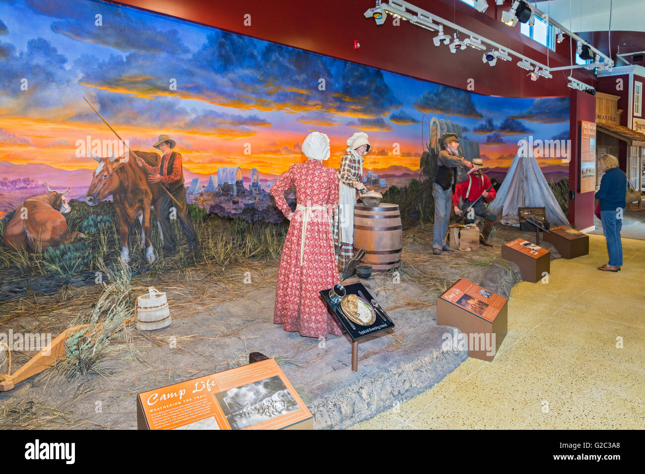 Nevada, Elko, California Trail Interpretive Center, diorama - Stock Image