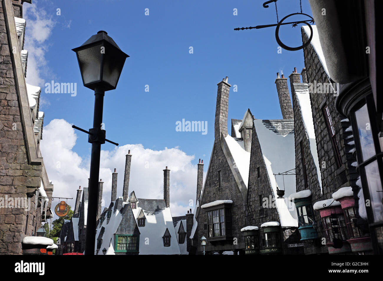 Harry Potter World at Universal Studios California - Stock Image