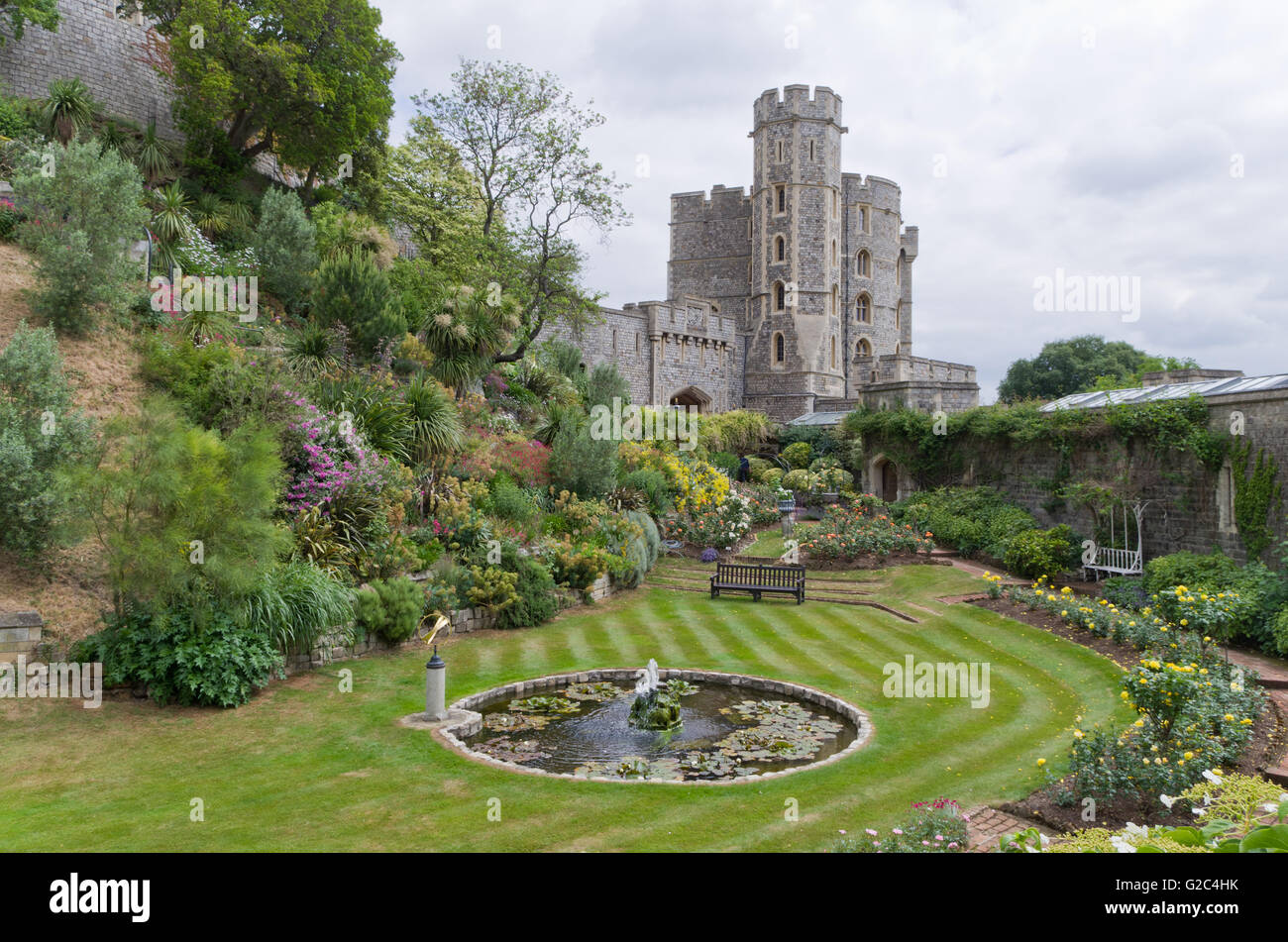Windsor Castle, the residence of the Royal Family, Berkshire, UK - Stock Image