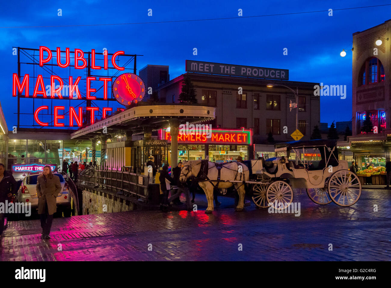 Pike Street Market, Seattle, Washington state, USA - Stock Image