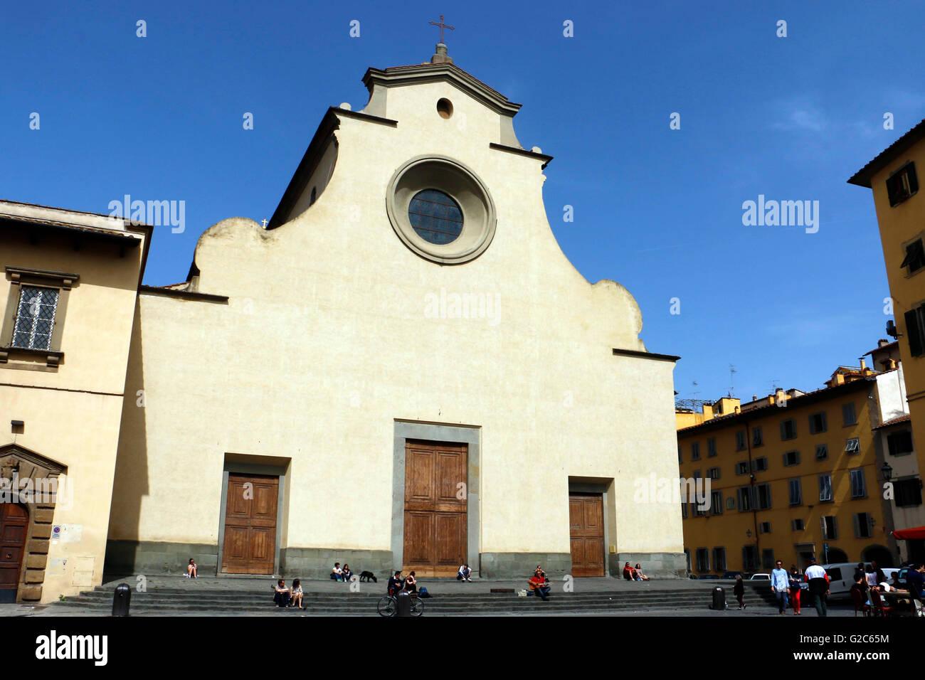 Chiesa di Santo Spirito,Florence,Italy - Stock Image