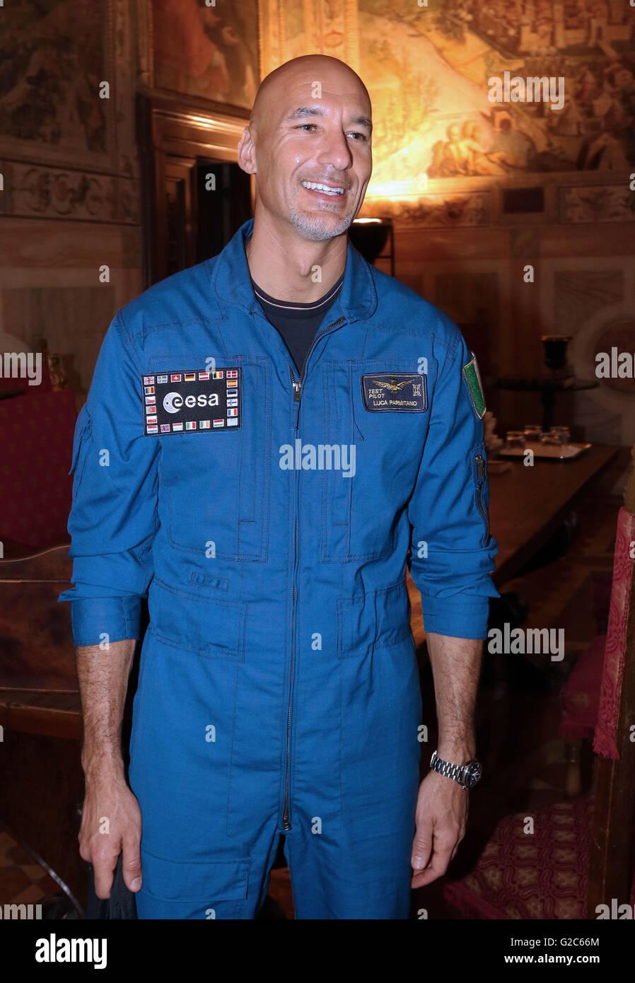 LUCA PARMITANO,Astronaut European Space Agency ( ESA ) - Stock Image