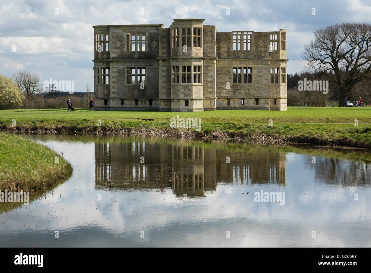 England, Northamptonshire, Oundle, Lyveden house - Stock Image