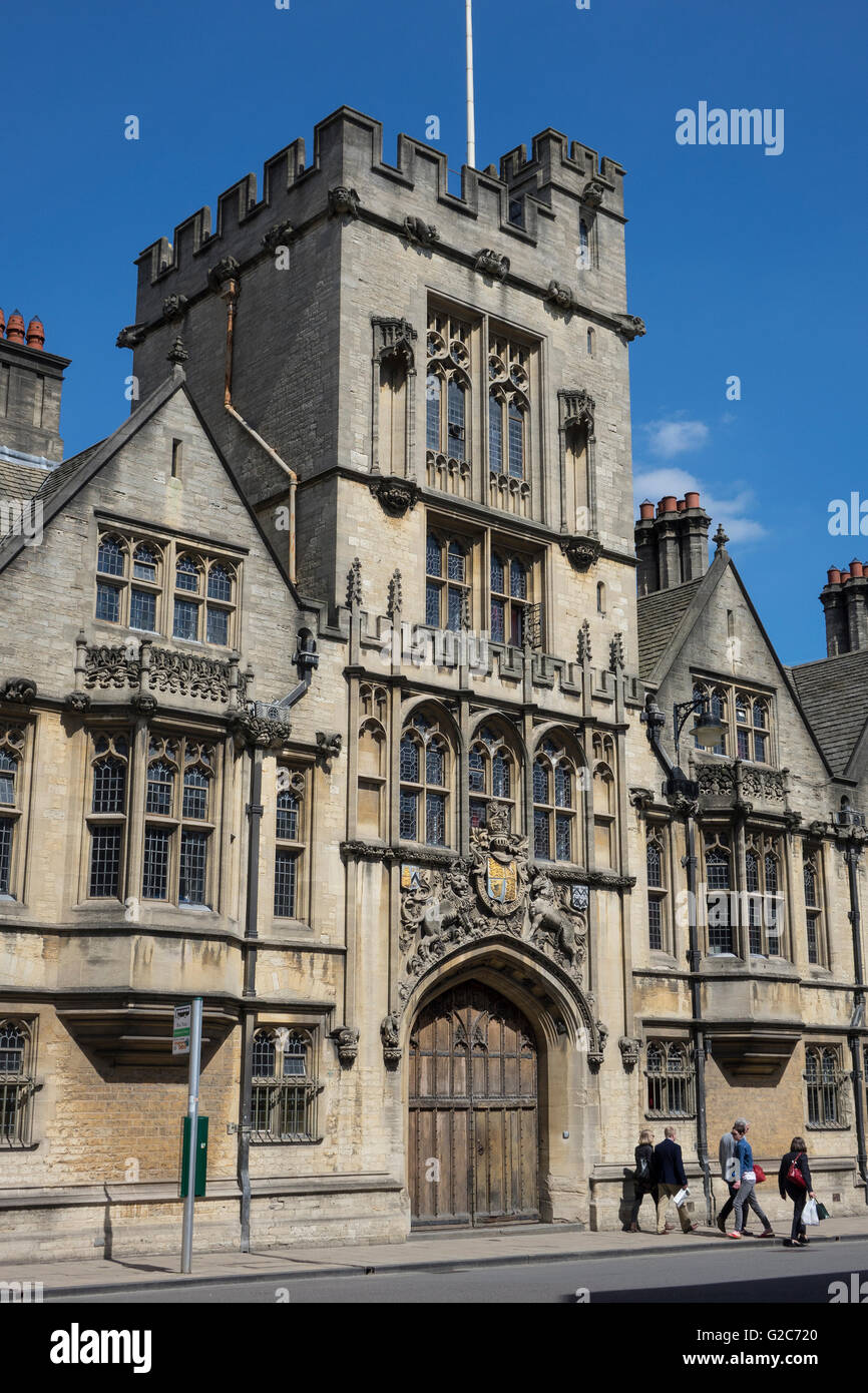 England, Oxford, Brasenose college, High street - Stock Image