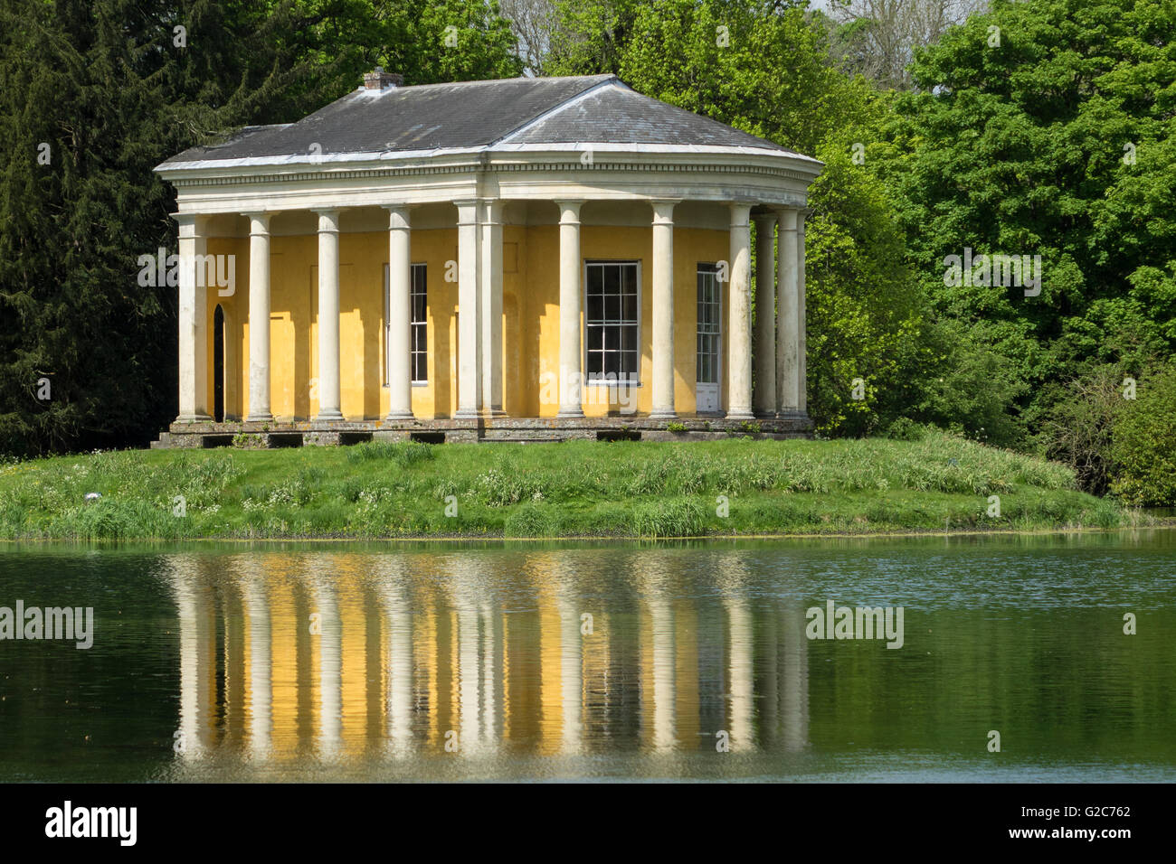 England, Buckinghamshire, West Wycombe park, Music temple - Stock Image