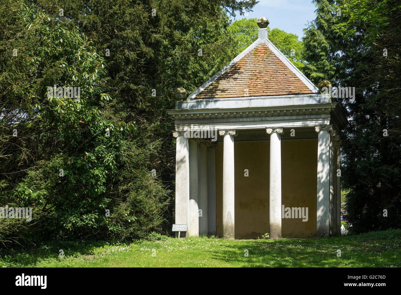 England, Buckinghamshire, West Wycombe park, Daphne's temple - Stock Image