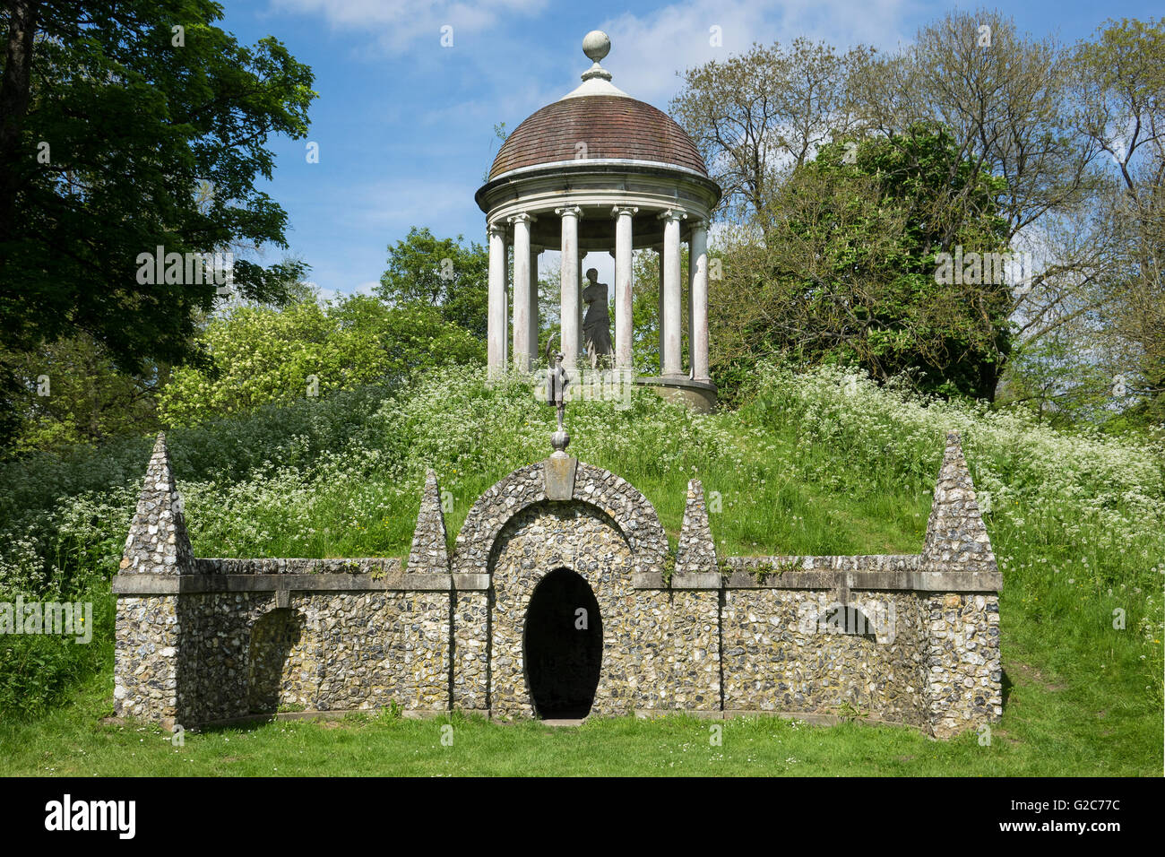 England, Buckinghamshire, West Wycombe park, Temple of Venus - Stock Image