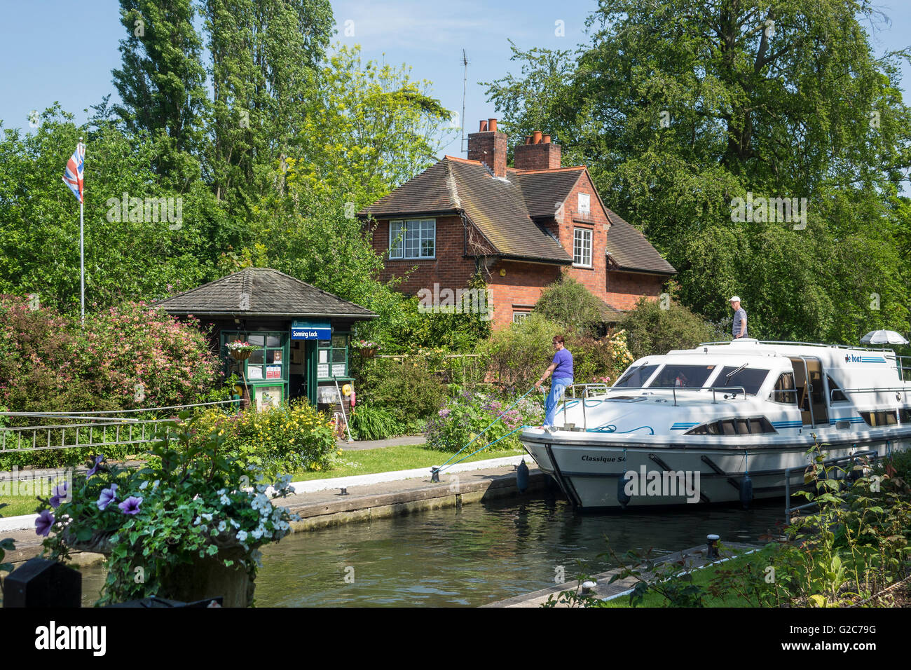 England, Berkshire, Sonning lock, River Thames Stock Photo
