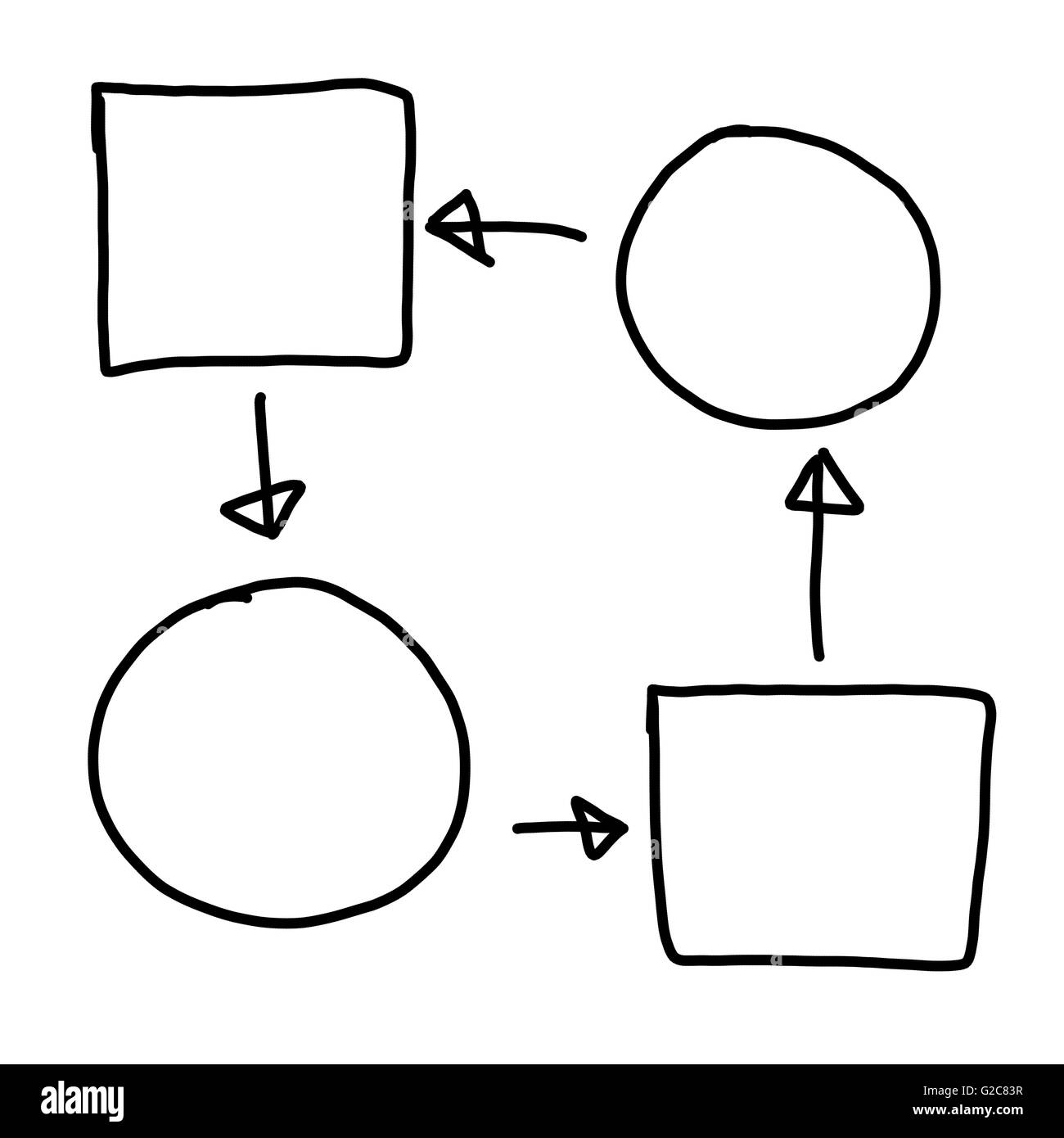Hand drawn symbol of empty geometric shapes graphics for concept hand drawn symbol of empty geometric shapes graphics for concept ideal applications in businessyou can put data into it ccuart Choice Image