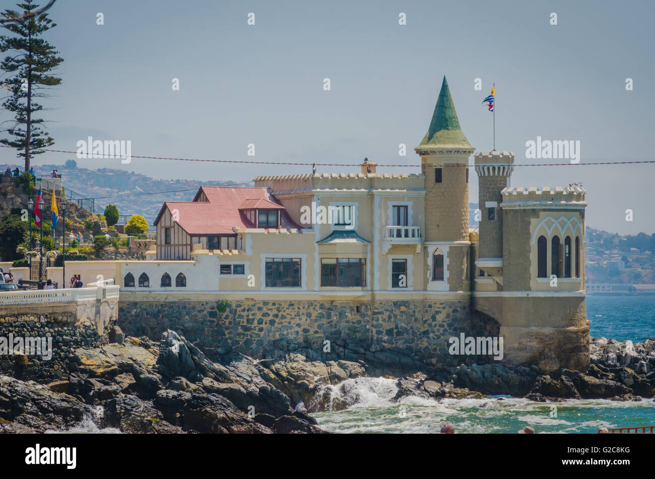 Vina del Mar, Chile - November 01 2014: Wulff Castle in Vina del Mar, Chile. - Stock Image