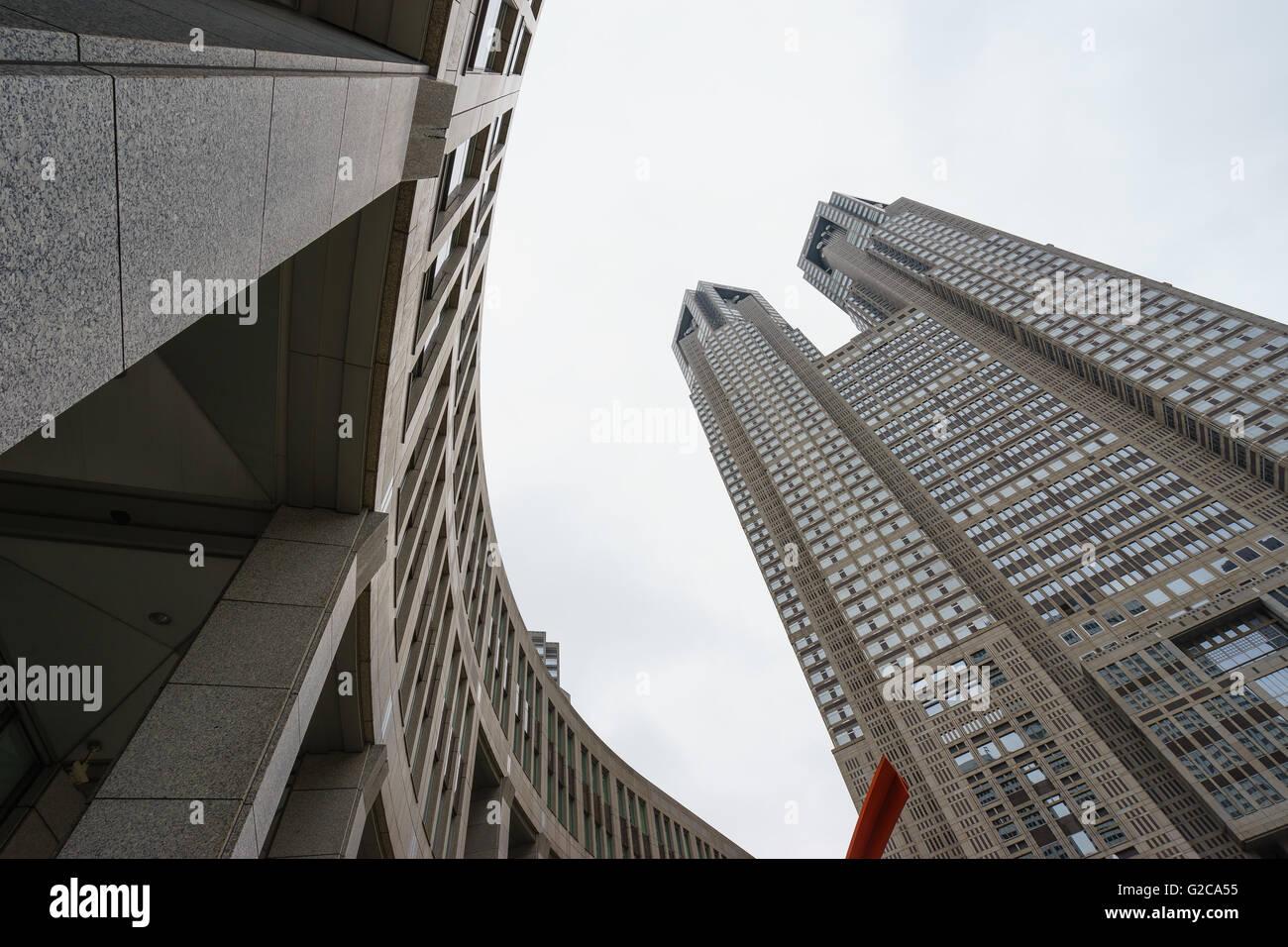 The Tokyo Metropolitan Government Building, Shinjuku, Tokyo, Japan. - Stock Image