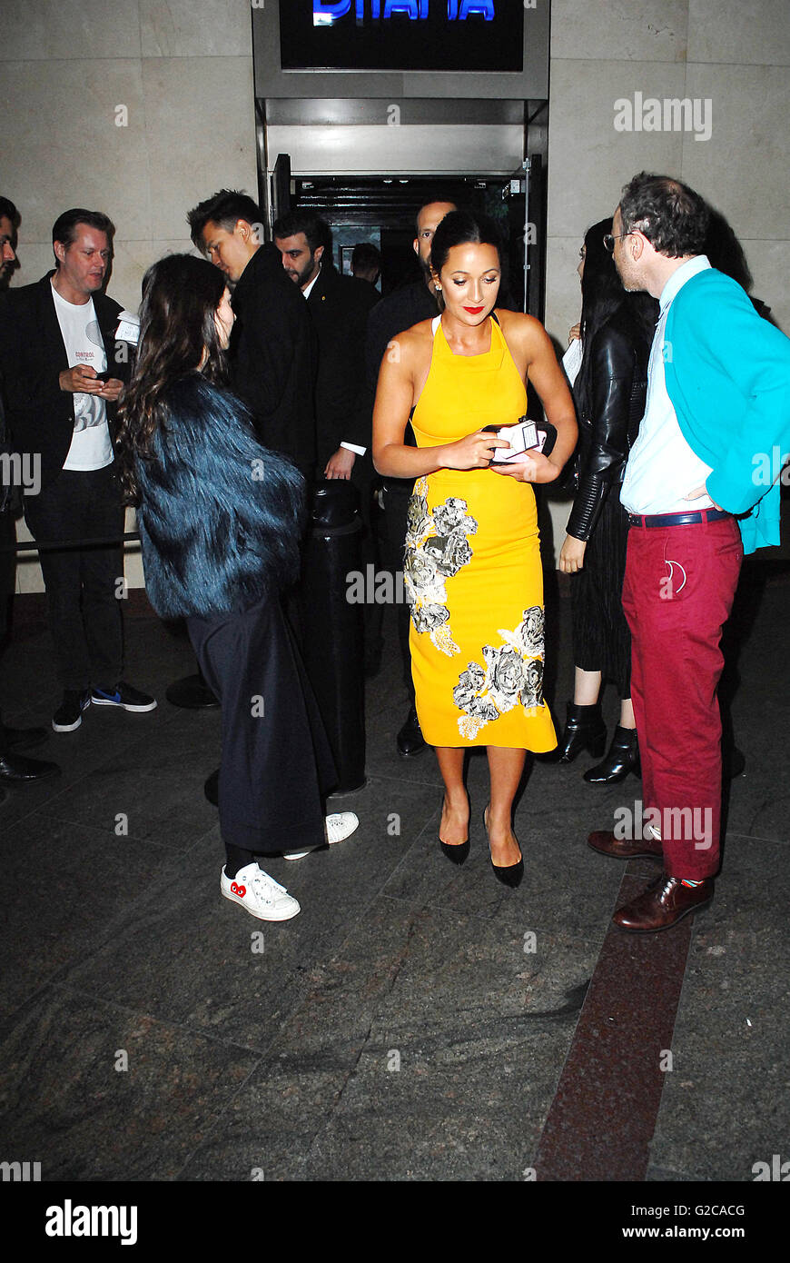 Models attend the 7th Man magazine launch at Drama's club in London UK - Stock Image