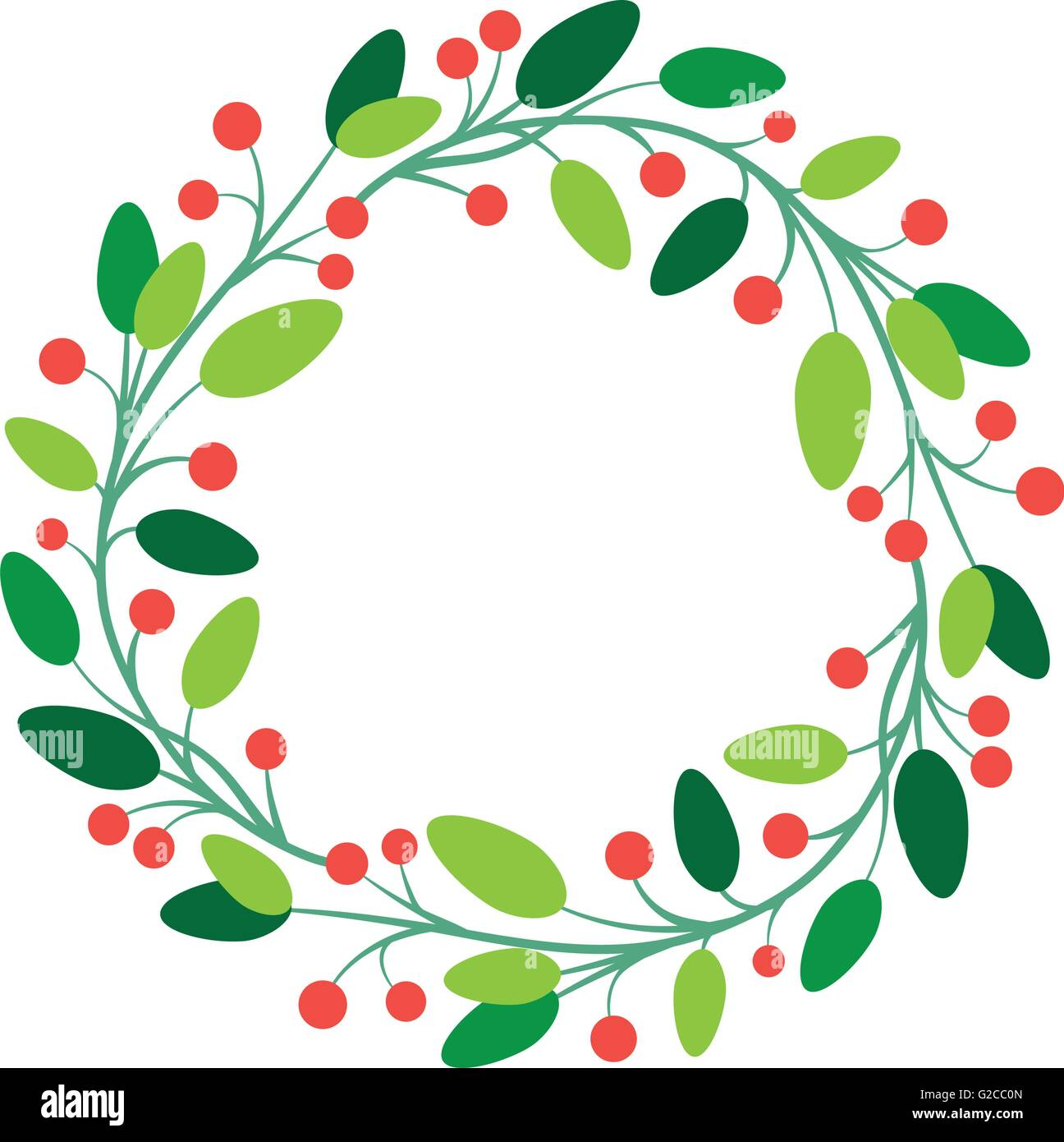 Vector Simple Round Fresh Floral Frame Design