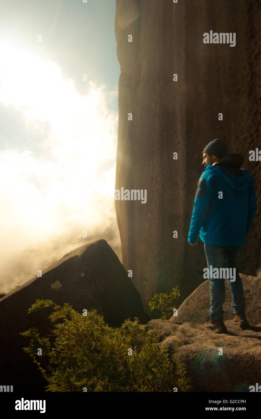 Hicker in Brazilan Mountains - Stock Image