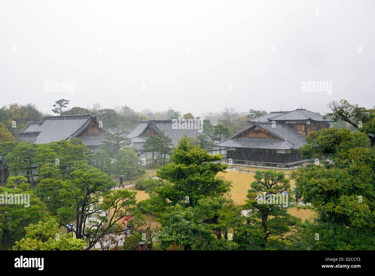 Nijo Castle, Honmaru-goten Palace & Gardens Stock Photo