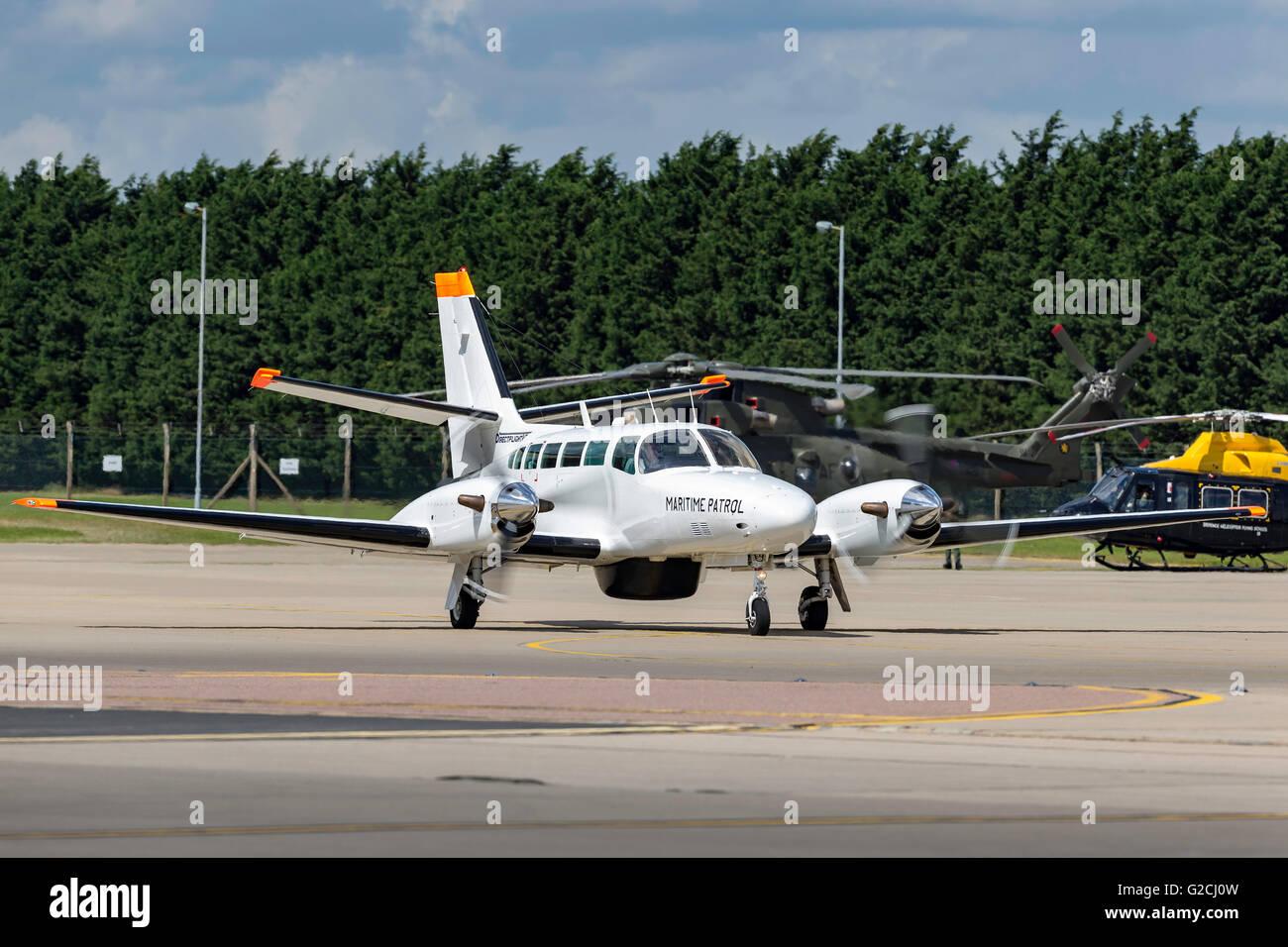 Directflight Cessna 406 (Reims F405) G-MAFB maritime patrol aircraft. - Stock Image