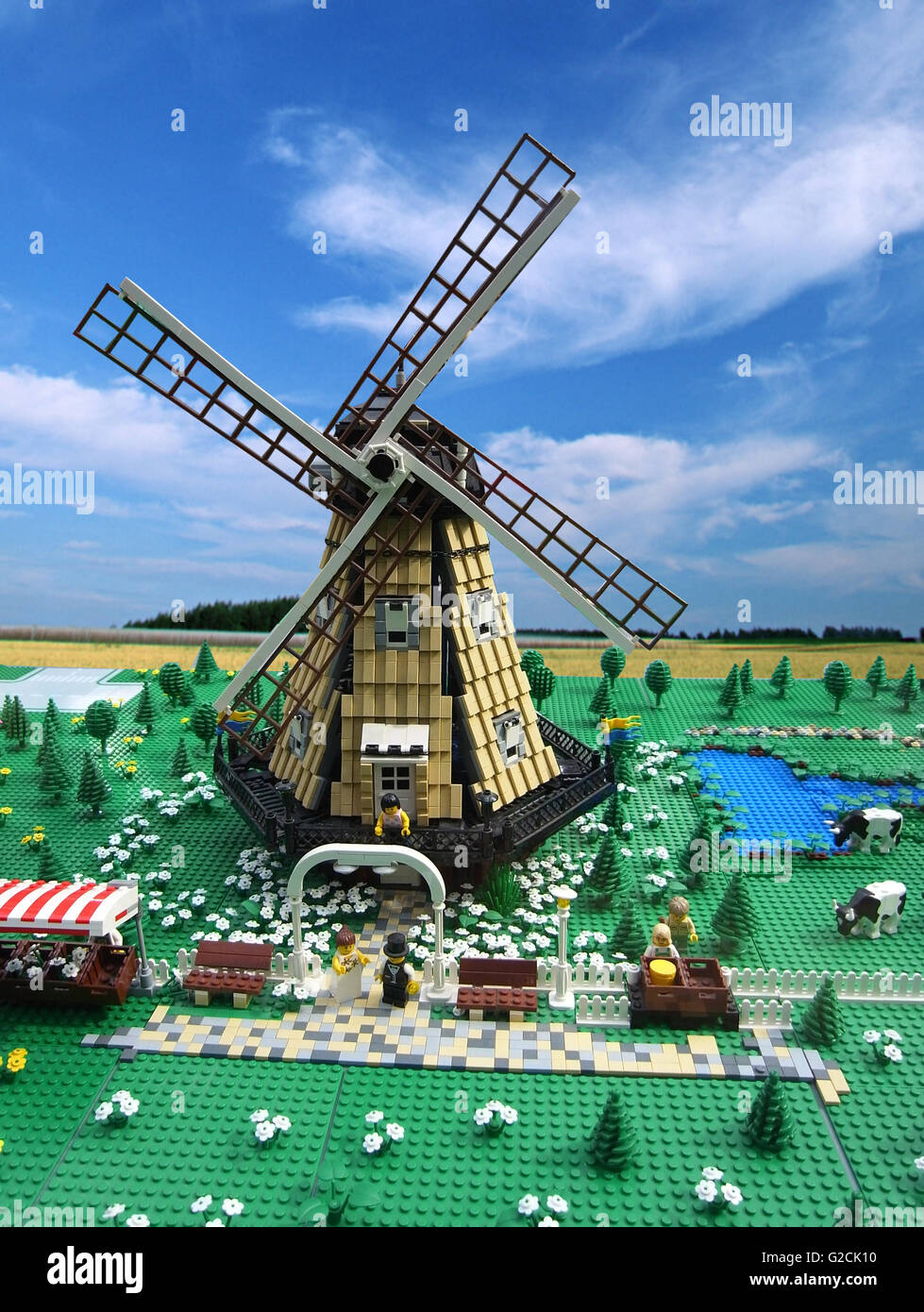 Lego Model build ancient old time day sky toy fun landscape