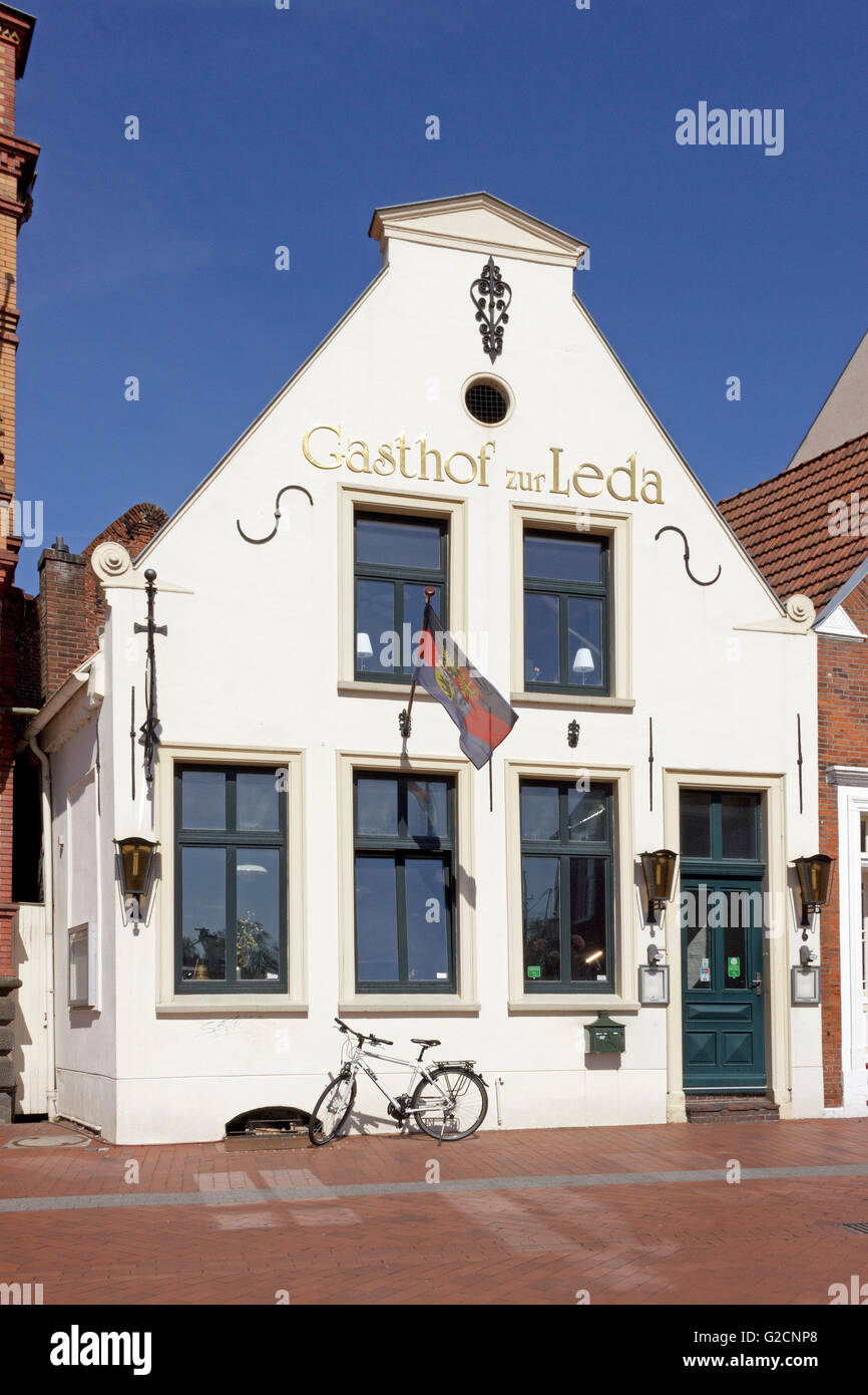 house, old town, Leer, East Friesland, Lower Saxony, Germany - Stock Image