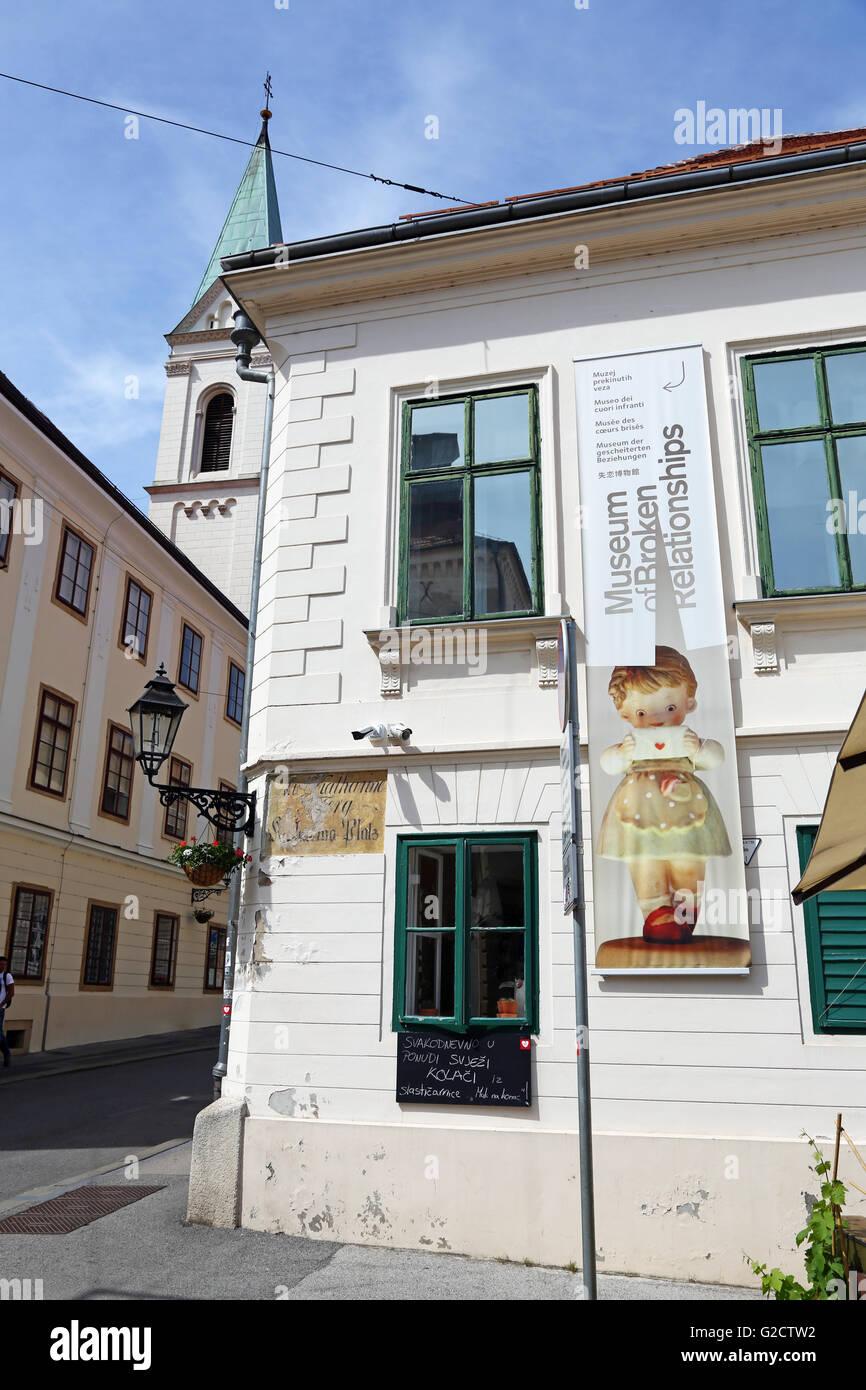 Museum of Broken Relationships in Zagreb, Croatia - Stock Image