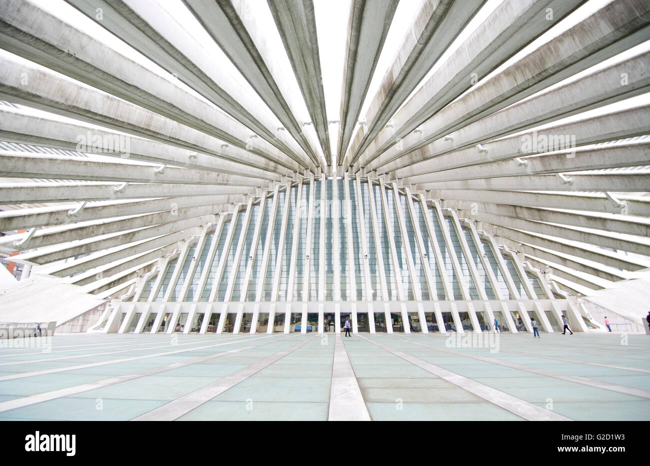 Oviedo, Spain. 27th May, 2016. Outside of Congress Palace, building by Spanish neofuturistic architec Santiago Calatrava - Stock Image