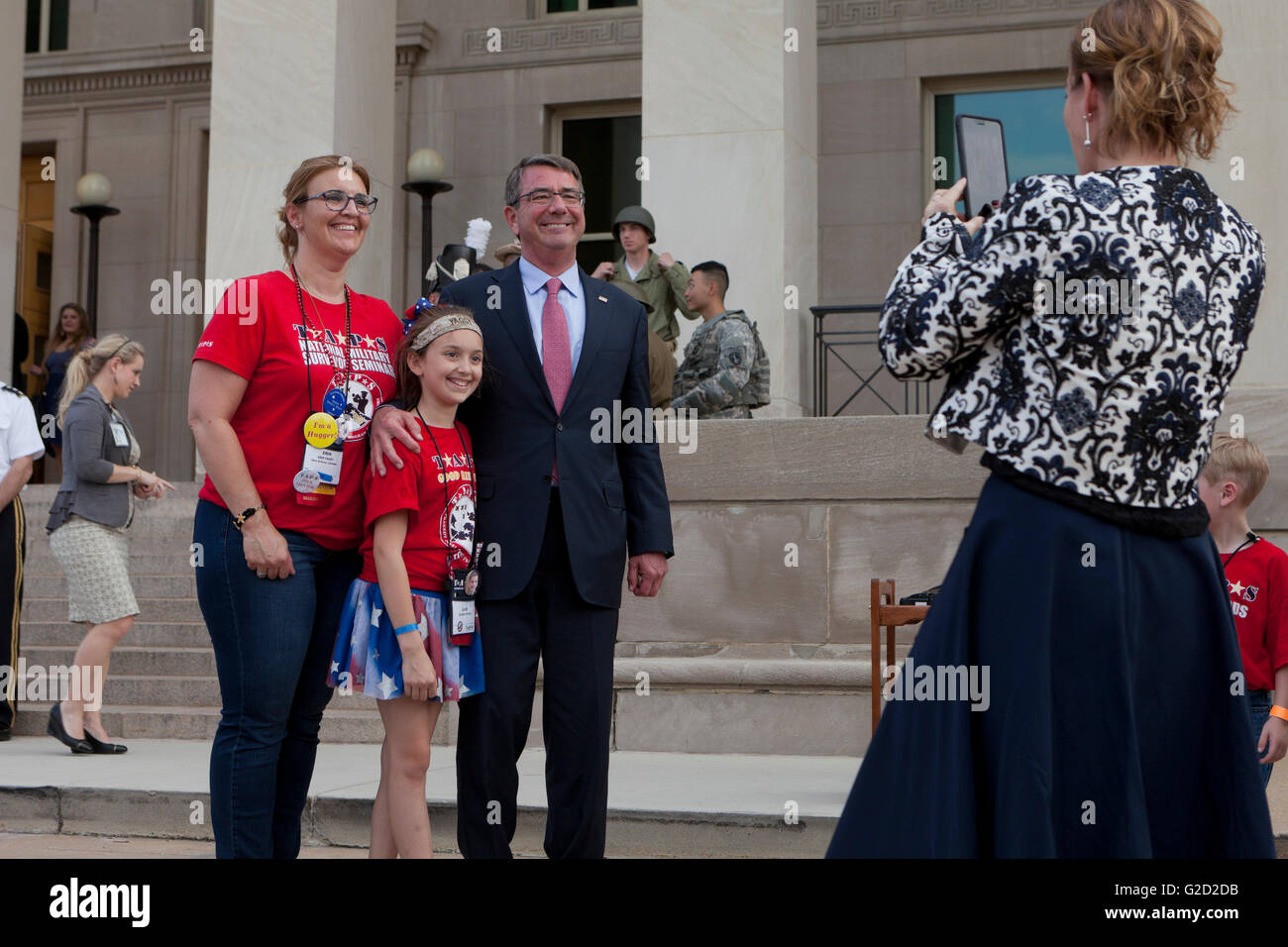 Washington, DC USA, 27th May, 2016: Secretary of Defense Ash Carter and Mrs. Carter host more than 350 Tragedy Assistance - Stock Image