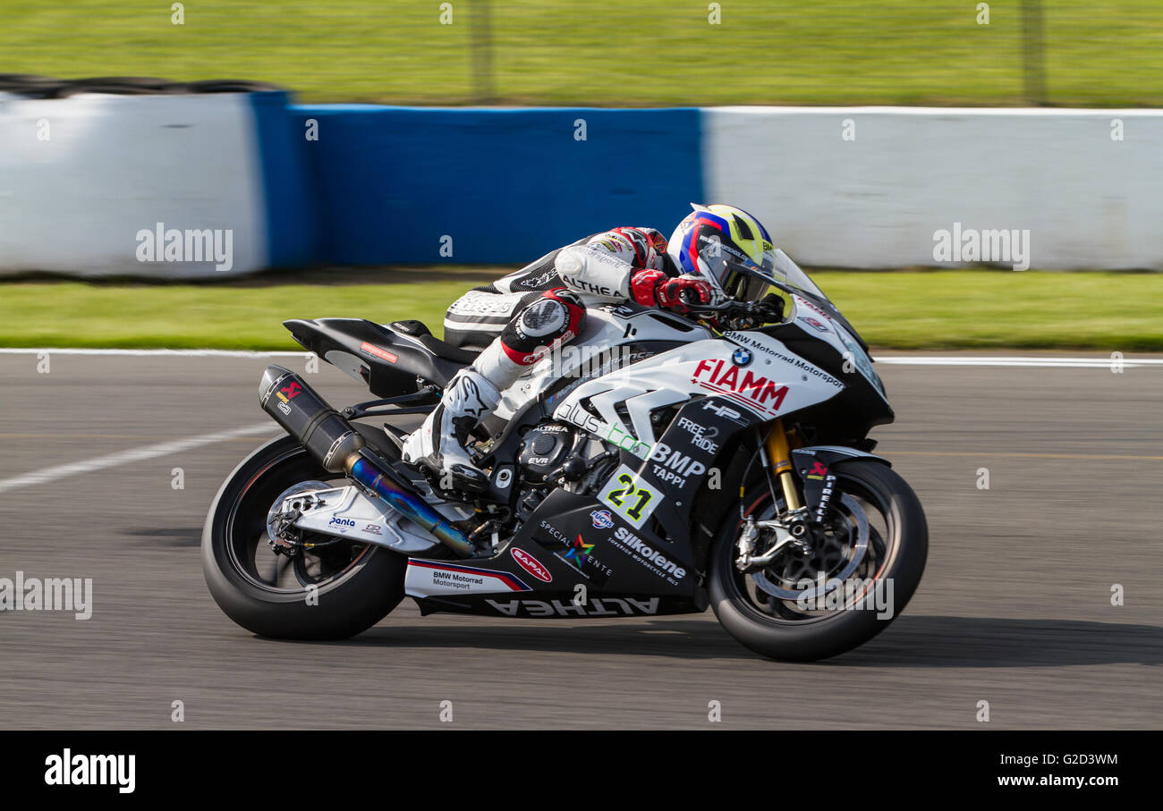 Donington Park, Derby, UK. 28th May, 2016. World Superbikes Acerbis UK Round 7 at Donington Park. Donington Park,Derby Stock Photo