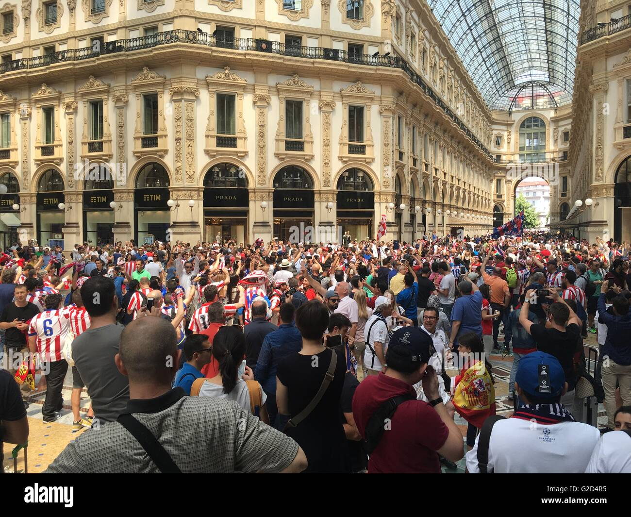 Milan, Italy 28th May, 2016. The 2016 UEFA Champions League Final .Tonight will be played in Milan the Champions Stock Photo