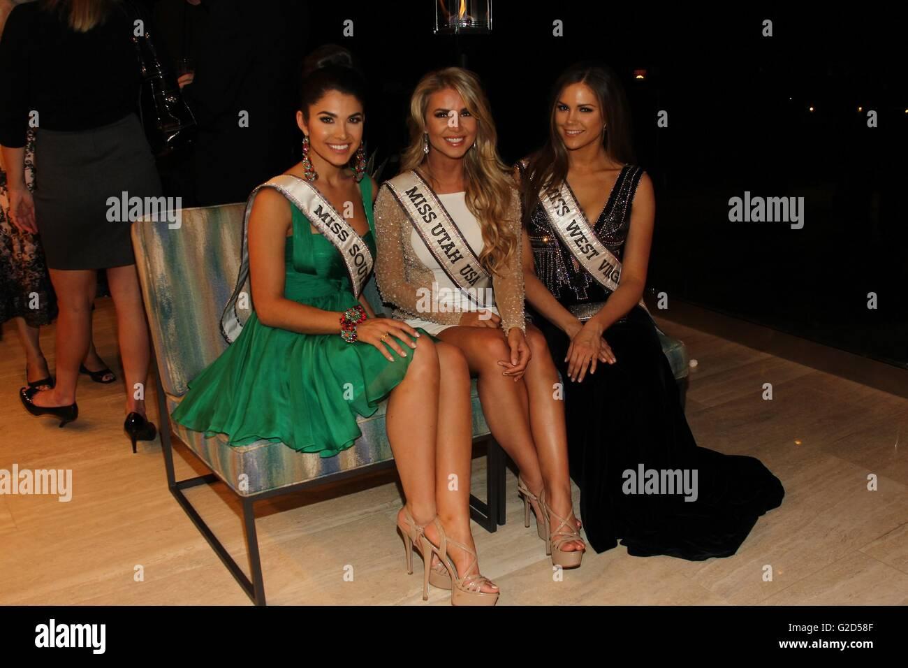 Henderson, NV, USA. 27th May, 2016. Miss South Carolina USA, Leah Lawson, Miss Utah USA, Teale Murdock, Miss West - Stock Image