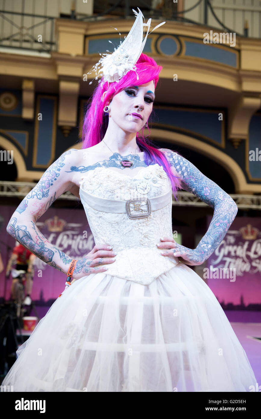 London, UK, 28 May 2016. Alexandra Palace.  The Show features over 300 Tattoo Artists as well as alternative fashion Stock Photo