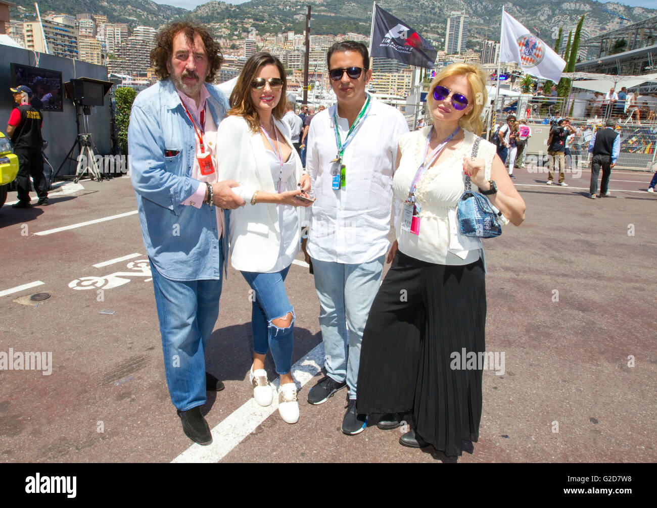 Monaco, Monte Carlo - May 28, 2016: FIA Formula One World Championship with Monty Shadow and friend Audrey Tritto - Stock Image