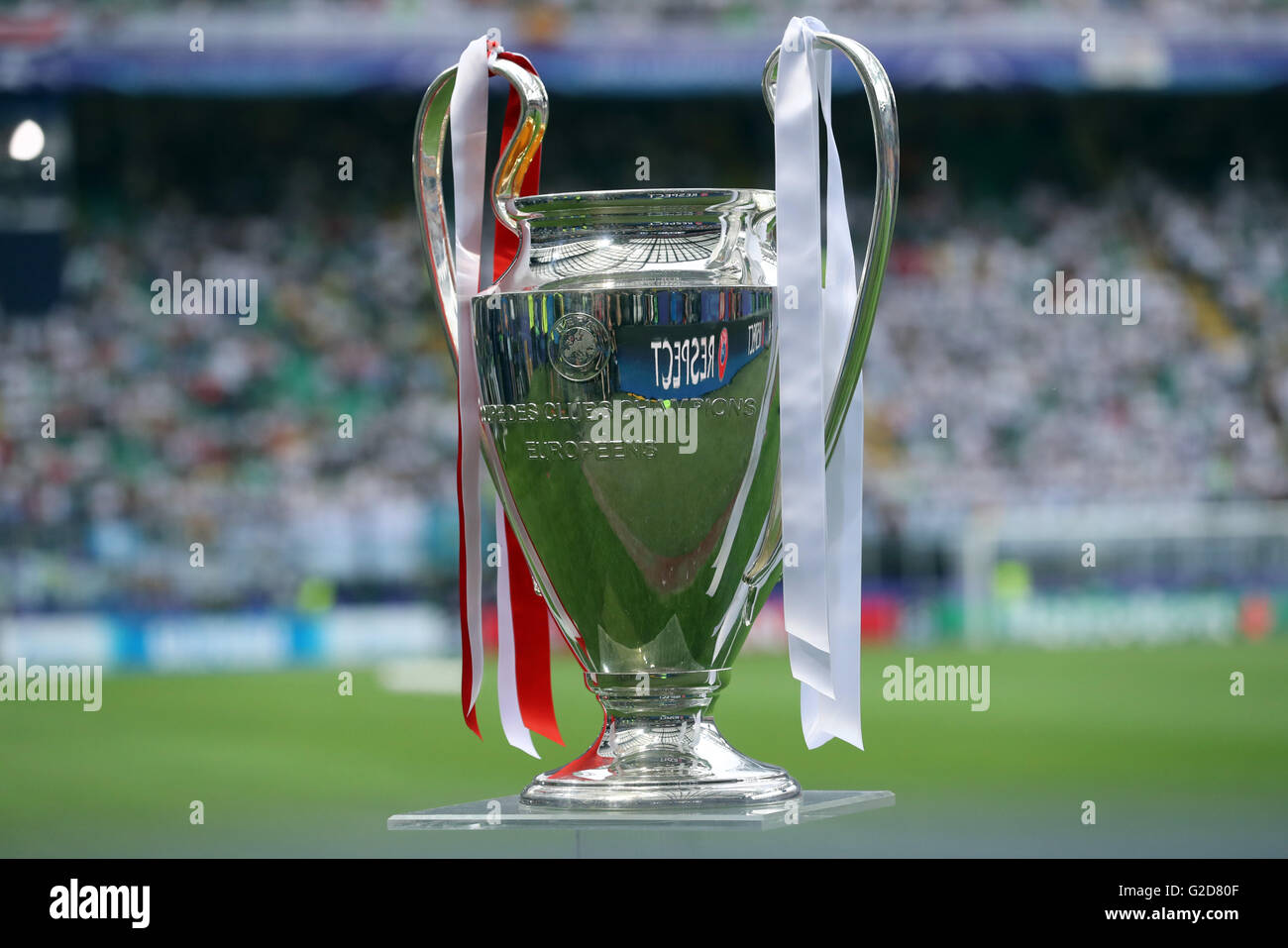 28th May 2016 The UEFA Champions League Trophy Is Seen Before Final Between Real Madrid And Atletico At Stadio